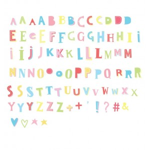 Lightbox letter set (Funky Colors)