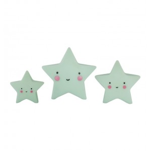 Mini Mint Stars Decoration