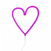 Pink Neon Style Light (Heart)