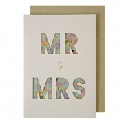 Mr and Mrs Confetti Shaker Wedding Card