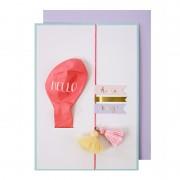 Hello Pink Balloon New Baby Card