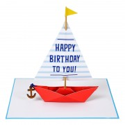 Sailing Boat Birthday Card