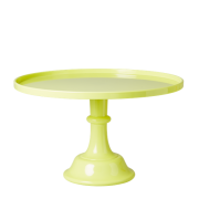 Melamine Cake Stand with Stem (Neon Yellow)