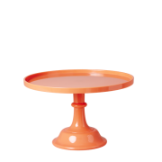 Small Melamine Cake Stand with Stem (Neon Coral)