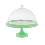 Cake Plate with Dome (Pastel Green)