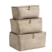 Box with Lid (Set of 3 boxes) (coffee)