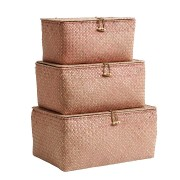 Box with Lid (Set of 3 boxes) (pink)