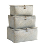 Box with Lid (Set of 3 boxes) (blue)