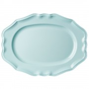 Large Melamine Serving Dish in Mint