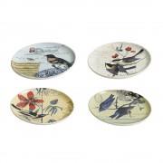 Nordal Decorative Bird Plates - Set of 4