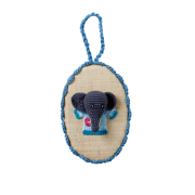 Wall Hanging Picture with Crochet (Elephant)
