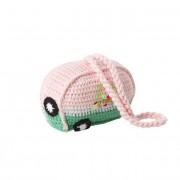 Crochet Caravan Hanging Accessory (Pink & Green)