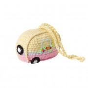 Crochet Caravan Hanging Accessory (Yellow & Pink)