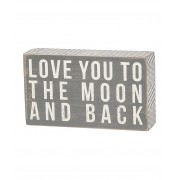 Gray 'To the Moon' Box Sign