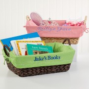 My Name Gingham Personalized Basket