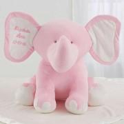 Embroidered Jumbo Plush Elephant - Pink