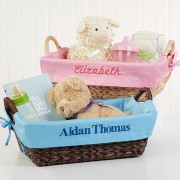 Welcome Baby Personalized Basket