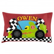 Boys' Sleepy-Time Pillowcase (Racecar)