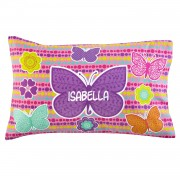 Girls' Sleepy-Time Pillowcase (Butterflies)