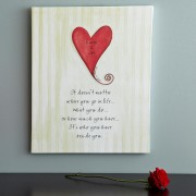Heart Wedding Canvas