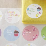 Birthday Personalized Gift Labels (72 labels / 4 designs)