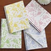 Damask Personalized Mini Notebooks (Set of 4)