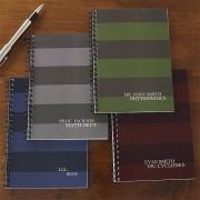 Dark Stripes Personalized Mini Notebooks (Set of 2)
