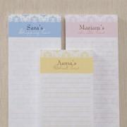 Damask Personalized Notepad (Set Of 3)