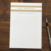 Classy Stripes Personalized Notepad