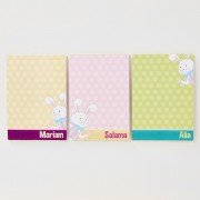 Personalized Bunny Mini Notepad (3 notepads)