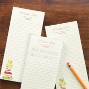 Wise Owl Personalized Notepads (Set of 3)