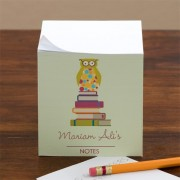 Wise Owl Personalized Note Cube