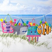 Personalized Stephen Joseph Beachy Fun Tote & Sand Toys