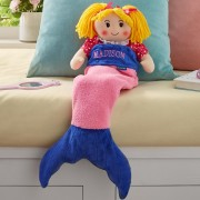 Personalized Mermaid Doll Blanket