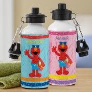 Personalized Sesame Street Elmo At The Beach Water Bottle